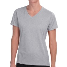 New Balance Heathered V-Neck T-Shirt - Short Sleeve (For Women) in Athletic Grey - Closeouts