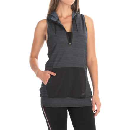 New Balance High-Performance Fleece Vest - Zip Neck (For Women) in Black - Closeouts
