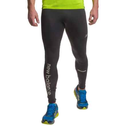 New Balance High-Performance Merino Tights - Polartec® Power Wool® (For Men) in Black - Closeouts