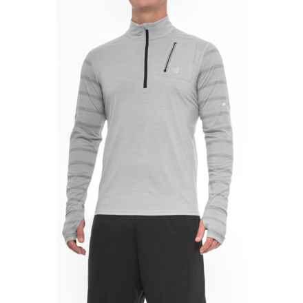 New Balance High-Performance Merino Wool Shirt - Zip Neck, Long Sleeve (For Men) in Grey - Closeouts