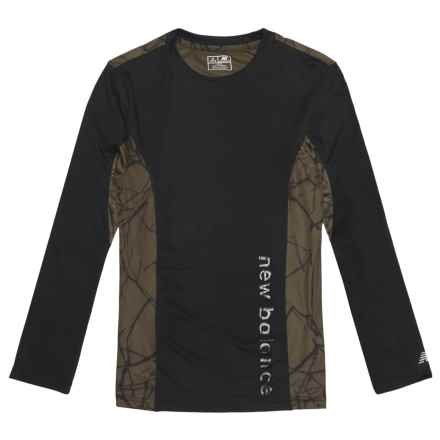 New Balance High-Performance Printed Shirt - Long Sleeve (For Little Boys) in Black - Closeouts