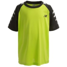 New Balance High-Performance Racing Stripes T-Shirt - Short Sleeve (For Boys) in Green - Closeouts