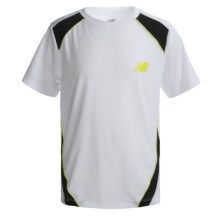 New Balance High-Performance Shirt - Short Sleeve (For Boys) in White - Closeouts