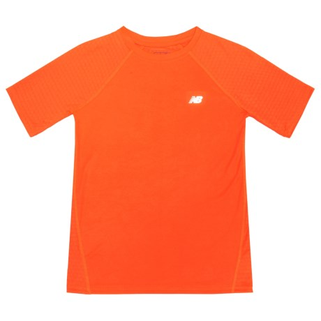 New Balance High-Performance T-Shirt - Short Sleeve (For Big Boys) in Bright Orange