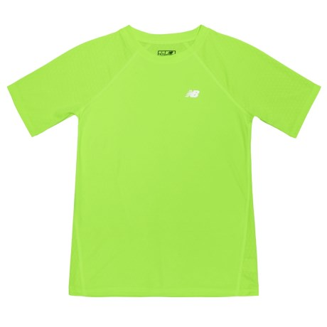 New Balance High-Performance T-Shirt - Short Sleeve (For Big Boys) in Lime Glow