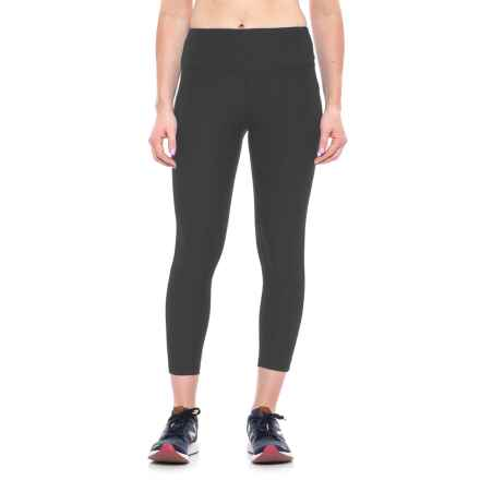 New Balance High-Rise Core Cropped Leggings (For Women) in Bk Black - Closeouts