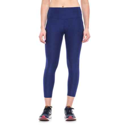 New Balance High-Rise Core Cropped Leggings (For Women) in Pigment - Closeouts