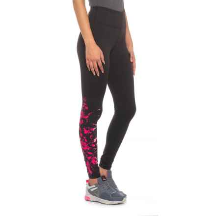 New Balance High-Rise Printed Tights (For Women) in Pinkglo - Closeouts