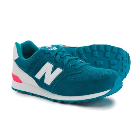 New Balance High Visibility Sneakers - Suede (For Girls) in Blue