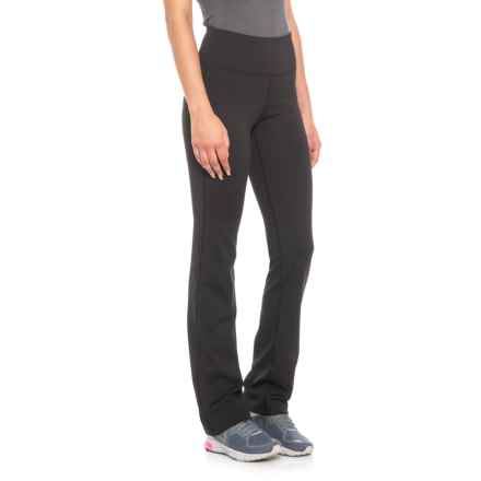 New Balance High-Waist Bootcut Leggings (For Women) in Black - Closeouts