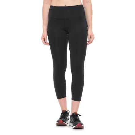New Balance High-Waist Cropped Leggings (For Women) in Black - Closeouts