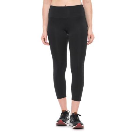 New Balance High-Waist Cropped Leggings (For Women) in Black