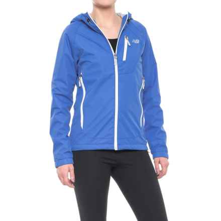 New Balance Hooded Dobby Mock Neck Jacket (For Women) in Mariana Blue - Closeouts