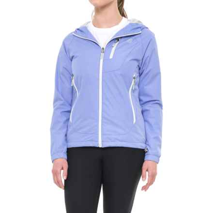 New Balance Hooded Dobby Neck Jacket (For Women) in Ice Violet - Closeouts