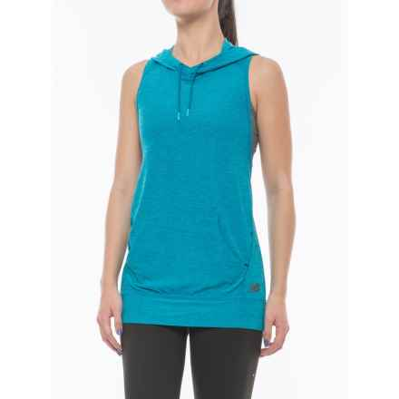 New Balance Hooded Tank Top - Racerback (For Women) in Deep Ozone Blue - Closeouts