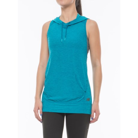 New Balance Hooded Tank Top - Racerback (For Women) in Deep Ozone Blue