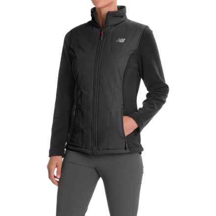 New Balance Hybrid Fleece Quilted Jacket (For Women) in Black/Black - Closeouts