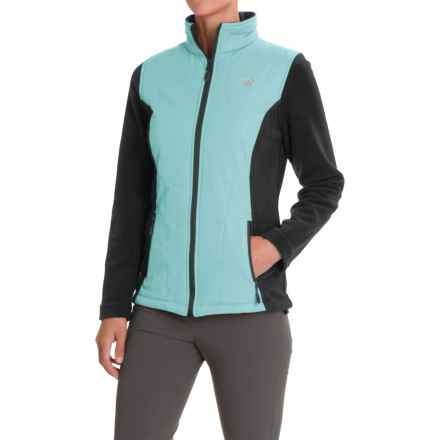 New Balance Hybrid Fleece Quilted Jacket (For Women) in Orca/Artic Blue - Closeouts