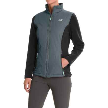 New Balance Hybrid Fleece Quilted Jacket (For Women) in Orca/Orca - Closeouts