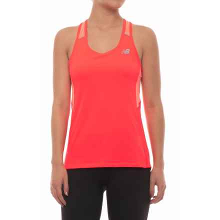 New Balance Ice 2.0 Racerback Tank Top (For Women) in Vivid Coral - Closeouts