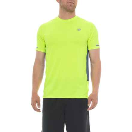 New Balance Ice 2.0 T-Shirt - Short Sleeve (For Men) in Hi Lite - Closeouts