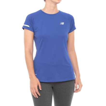 New Balance Ice 2.0 T-Shirt - Short Sleeve (For Women) in Blue Iris - Closeouts