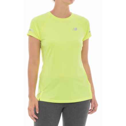 New Balance Ice 2.0 T-Shirt - Short Sleeve (For Women) in Solar Yellow - Closeouts
