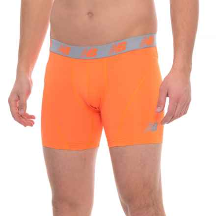 """New Balance ICE High-Performance Boxer Briefs - 6"""" (For Men) in Lava - Closeouts"""