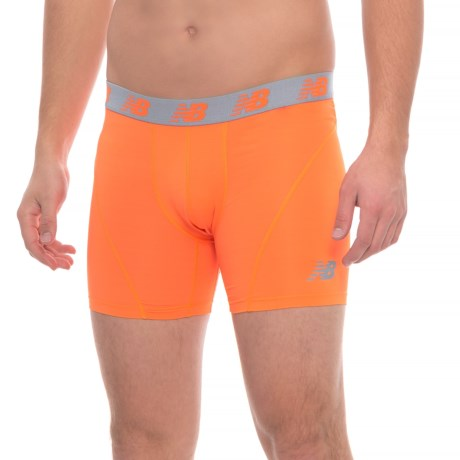 """New Balance ICE High-Performance Boxer Briefs - 6"""" (For Men) in Lava"""