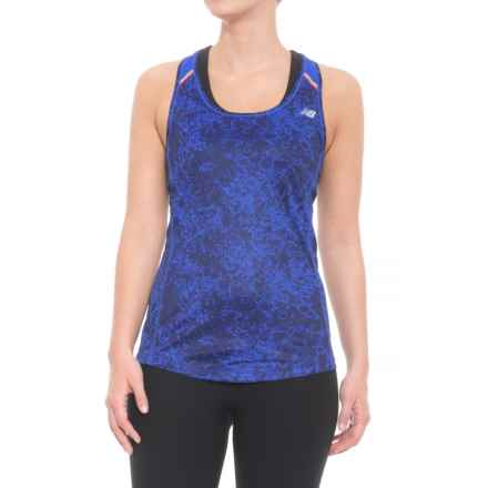 New Balance Ice Printed Tank Top (For Women) in Frozen Fade/Vivid Cobalt Multi - Closeouts