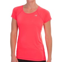 New Balance Ice Running Shirt - Short Sleeve (For Women) in Bright Cherry - Closeouts