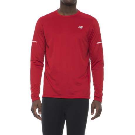 New Balance Ice Shirt - Long Sleeve (For Men) in Red Pepper