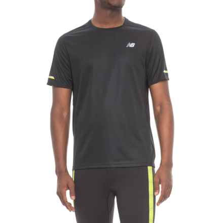 New Balance Ice T-Shirt - Crew Neck, Short Sleeve (For Men) in Black - Closeouts