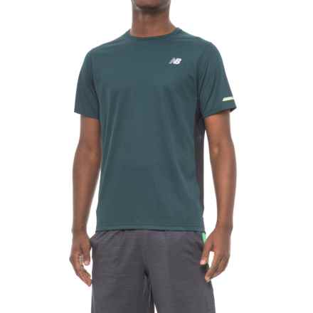 New Balance Ice T-Shirt - Crew Neck, Short Sleeve (For Men) in Green - Closeouts