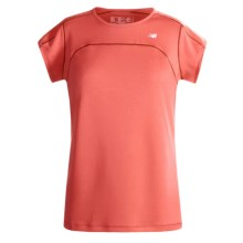 New Balance ICEFIL Shirt - UPF 40+, Short Sleeve (For Women) in Cayenne/Red - Closeouts