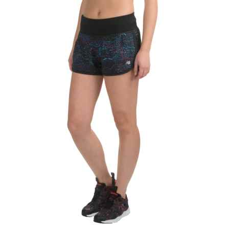 "New Balance Impact 3"" Running Shorts (For Women) in Castaway Multi/Black - Closeouts"