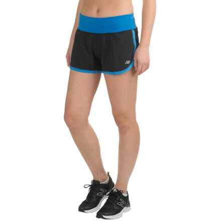 "New Balance Impact 3"" Running Shorts (For Women) in Majestic Blue/Fusion - Closeouts"