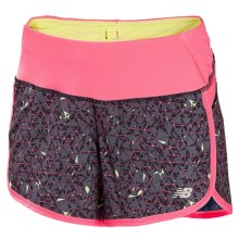 """New Balance Impact Graphic Shorts - Built-In Brief, 4"""" (For Women) in Watermelon - Closeouts"""