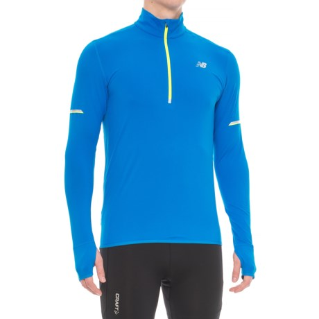 New Balance Impact Jacket - Zip Neck (For Men) in Electric Blue
