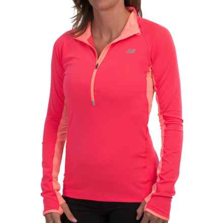 New Balance Impact Jacket - Zip Neck (For Women) in Bright Cherry - Closeouts