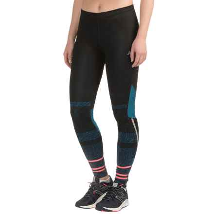 New Balance Impact Premium Printed Tights (For Women) in Castaway Multi/Guava/Black - Closeouts