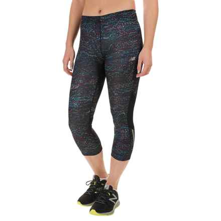 New Balance Impact Printed Capris (For Women) in Castaway Multi/Fusion - Closeouts
