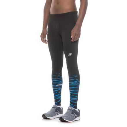 New Balance Impact Printed Tights (For Men) in Bpt Black Print - Closeouts