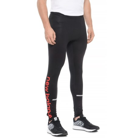 New Balance Impact Printed Tights (For Men) in Frozen Ground/Black
