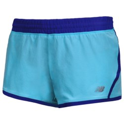"New Balance Impact Running Shorts - Built-In Brief, 3"" (For Women) in Blue Atoll/Dazzling Blue"