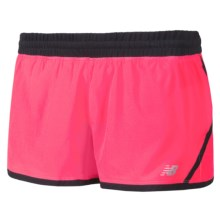 """New Balance Impact Running Shorts - Built-In Brief, 3"""" (For Women) in Diva Pink/Black - Closeouts"""