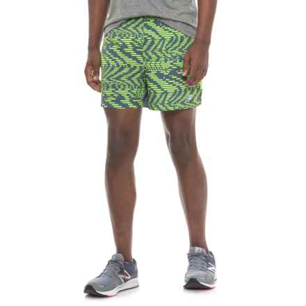 New Balance Impact Running Shorts - Built-In Briefs (For Men) in Green - Closeouts
