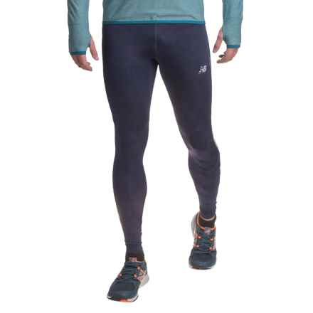 New Balance Impact Running Tights (For Men) in Abyss Graphic - Closeouts