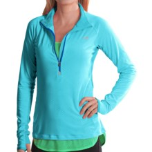 New Balance Impact Shirt- Zip Neck (For Women) in Sea Spray - Closeouts