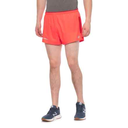 New Balance Impact Shorts - Built-In Briefs (For Men) in Energy Red - Closeouts